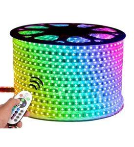220V Dış Mekan Hortum RGB Şerit Led